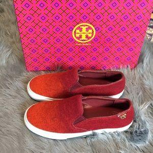 Tory Burch Stardust Slip On Shoes Ombré Wool Sz 7